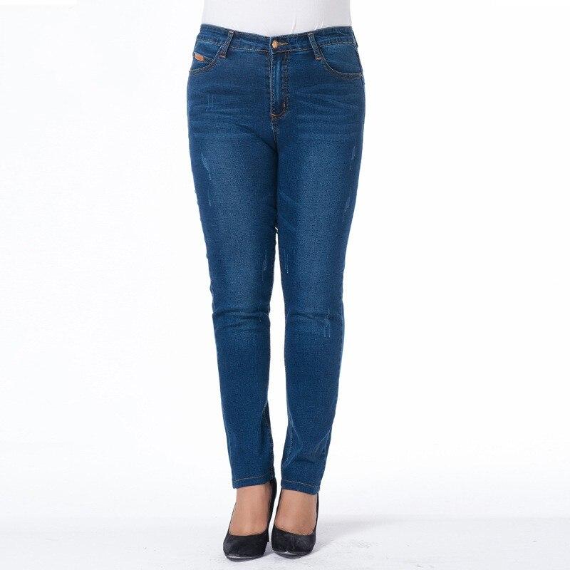 2017 New Style Jeans Large Size S-6XL Women Casual Jeans Pants High Waist Elastic Denim Trousers Woman Slim Jean alfani new deep black stretch waist women s size large l casual pants $89