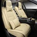 De cuero de lujo cojín del asiento de coche cubre universal para Peugeot 406 207 206 307 407 308 2008 408 301 508 3008 3D car-styling