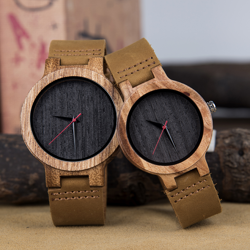 DODO DEER Lovers Wood Watches Women Men Analog Quartz Fashion Watch For Couples In Wooden Box For Christmas Gift Saati A26