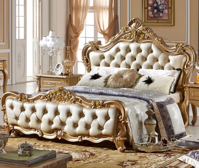 juego de dormitorio italiano con estilo de lujo de alta calidad