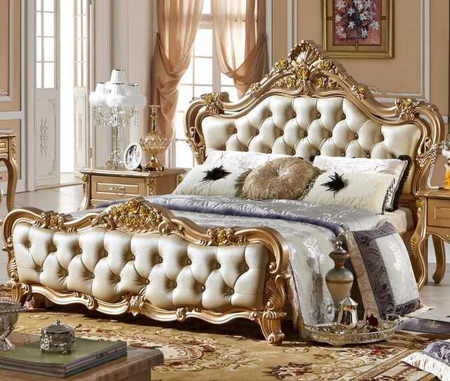 €2103.13 |Ensemble de chambre italienne avec Style de luxe de haute  qualité-in Ensembles chambre à coucher from Meubles on AliExpress