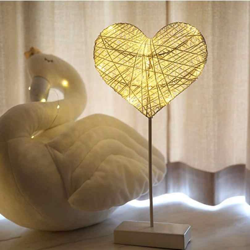 СВЕТОДИОДНЫЙ ночник в форме сердца звезды настольная лампа ротанговая лампа вечерние свадебные украшения Прямая доставка 2018f5