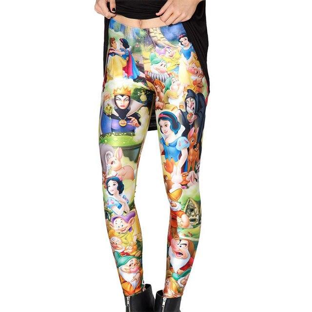 Womens Cartoon Printed Leggings