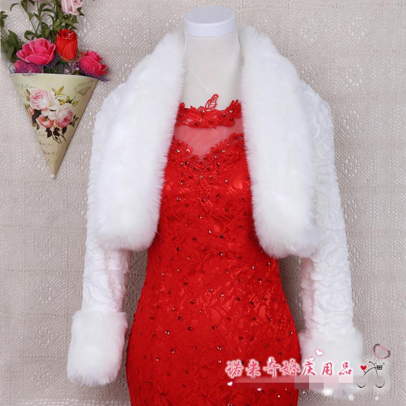 hiver de mariage manteau blanc manteau de fourrure de mariage chacircle veste de marieacute - Tole Blanche Mariage