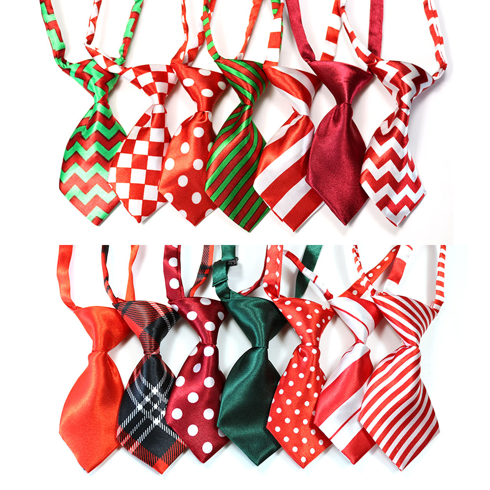 200PC Christmas Pattern Dog Ties New Arrival Pet Dog Neckties Bowties Polyester Cute Dog Bow Tie