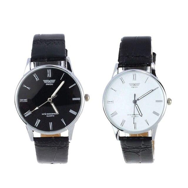 Top Brand Luxury Fashion Clock Classic Men's Watch Roman Number Hour Quartz Electronic Leather Wrist Watches Montre Homme Saat