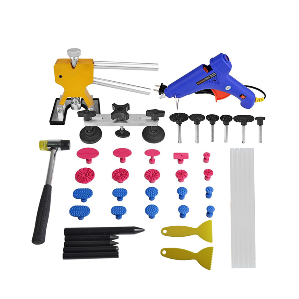 PDR Tools Kit Paintless Dent Repair Tool set  for Car Dent Removal Pops-a-dent Dent Lifter Hail Damage Repair Tool with bridge  car dent remover kit pdr tool dent lifter paintless dent hail removal repair tools glue pdr tool kit pdr pro tabs