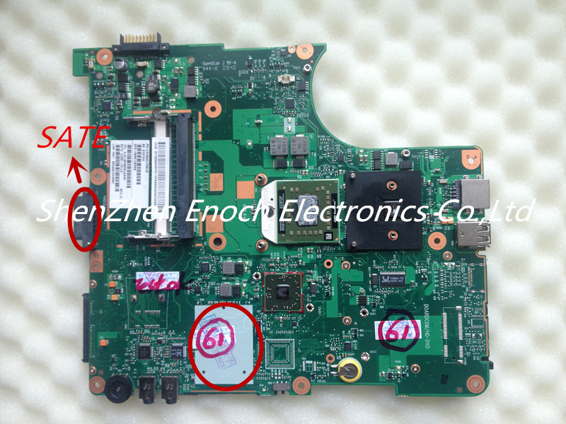 ФОТО For Toshiba Satellite L305D  Laptop Motherboard  V000138980 6050A2323101-MB-A01  SATA DVD