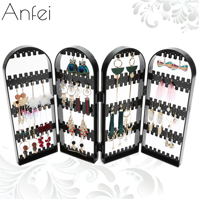 Jewelry Organizer Plastics Earring Storage Doors Nice Jewelry