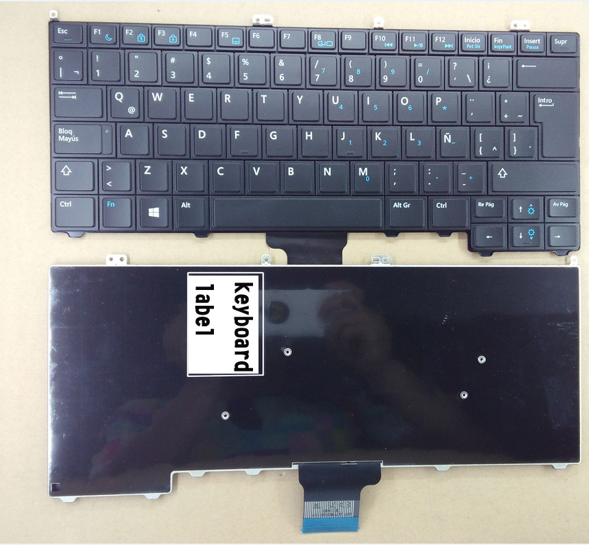 New laptop keyboard for DELL Latitude E7440 E7420 E7240 E7420D 12 7000 TURKISH/LATIN SPANISH/ARABIC/FRENCH/JAPANESE layout new notebook laptop keyboard for hp probook 8560w 8570w 8760w 8770w latin spanish greek icelandic italian japanese layout