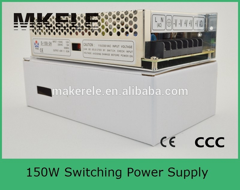 Input 36-72V DC CE approved dc-dc power supply 24v 150W module SD-150C-24