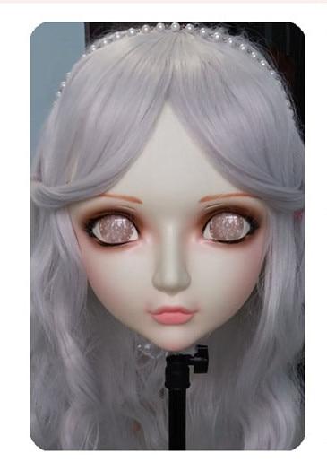Women/girl Sweet Resin Half Head Kigurumi Bjd Mask Cosplay Japanese Anime Lifelike Lolita Mask Crossdressing Sex Doll Novelty & Special Use dm037 Kids Costumes & Accessories