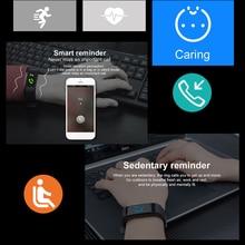 BINSSAW חדש חכם שעון גברים נשים קצב לב צג לחץ דם כושר Tracker Smartwatch ספורט שעון עבור ios אנדרואיד + תיבה