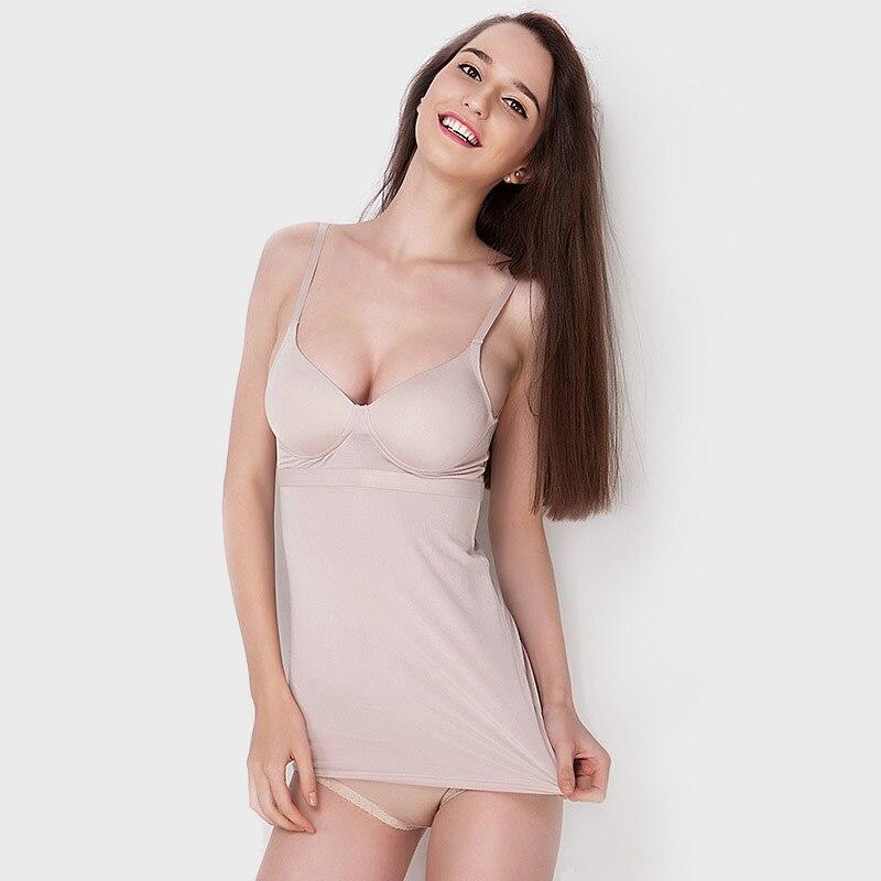 REAL SILK women Bustiers slimming underwear cincher bustier new waist corsets butt lifter Black Nude