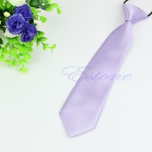 Solid Colour Elastic Necktie