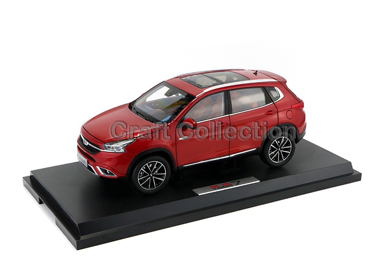 * Red 1:18 Chery Tiggo 7 SUV Diecast Model Car Modell Auto Classical Collection open shoulder printed dress