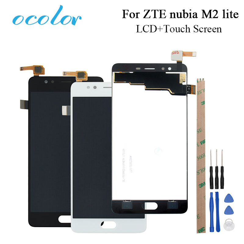 ocolor For ZTE nubia M2 lite NX573J LCD Display + Touch Screen Assembly Phone Accessories For ZTE nubia M2 lite +Tools +Adhesive(China)