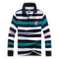 2017 Top-Quality 100 algodão de manga comprida camisa dos homens DO POLO de Tubarão Casual Slim Fit camisa camisas de marca puxar homme marque famosas