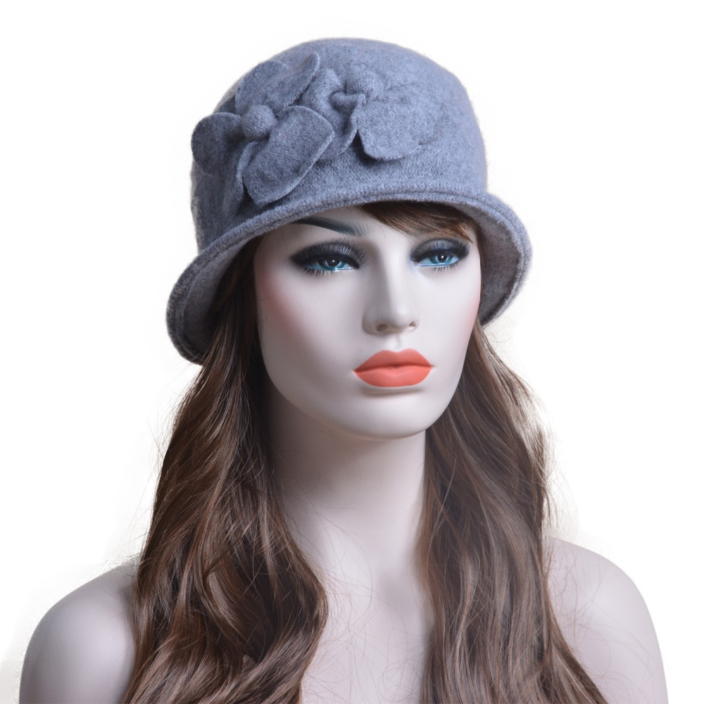 c0724385b2e25 Winter Hats For Women Beret Cap Ladies Gatsby style Wool Hat Autumn Double  Flower Warm Hat