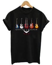 GUITAR HEAVEN CLASSIC ROCK HEAVY METAL MUSIC MENS BLACK T-SHIRT Print T-Shirt Mens Short Tee Shirt Homme Tshirt Men Funny