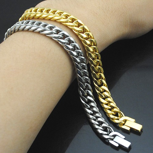 Boy's Men's Stainless Steel Link Chain Bracelet 16 Fashion Jewellery, Wholesale Free shipping, HB027 3