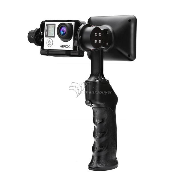 WenPod GP1 + 2-х Осевой 32 Бит Ручной Устойчивый Камеры Gimbal PTZ гироскоп Стабилизатор с 3.5 ''ЖК-Экран для Gopro Hero 3 4