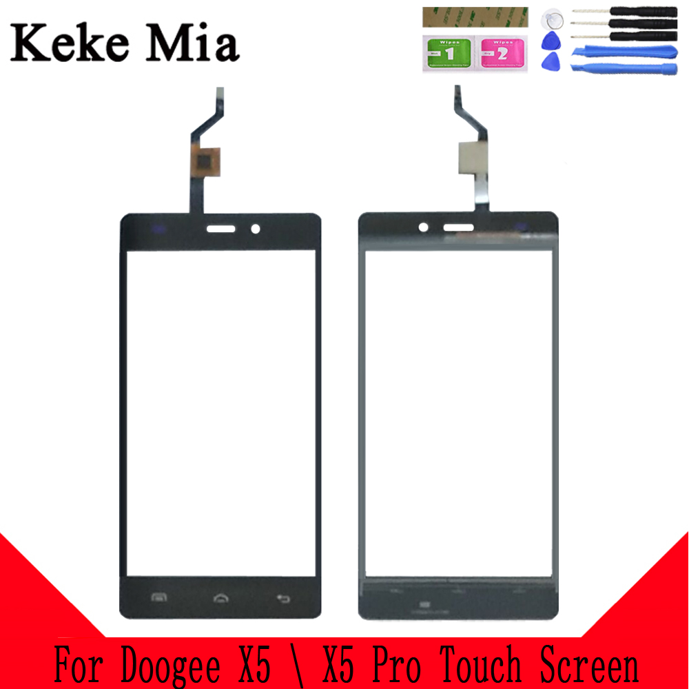 Keke Mia 5.0 For Doogee X5 Touch Screen Digitizer For Doogee X5 Pro Touch Panel Touchscreen Sensor Front Glass Free Adhesive