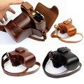 Роскошный PU Кожаный Чехол Сумка для Фотокамеры Чехол Для Fujifilm X-T10 XT10 16-50 мм объектив Ретро Старинные Мешок С Открытие Батареи случае