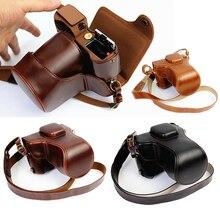Роскошные из искусственной кожи чехол для камеры для Fujifilm X-T20 XT20 X-T10 XT10 16-50 мм Объектив Ретро Винтаж сумка с батарейным отсеком