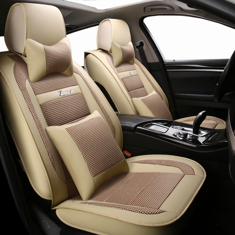 New Luxury leather Universal car seat cover for peugeot all models 106 205 206 301 306 307 308 406 407 508 3008 car seat cover car believe custom car trunk mat for peugeot 5008 508 206 4008 306 307 308 207 cargo liner interior accessories car styling
