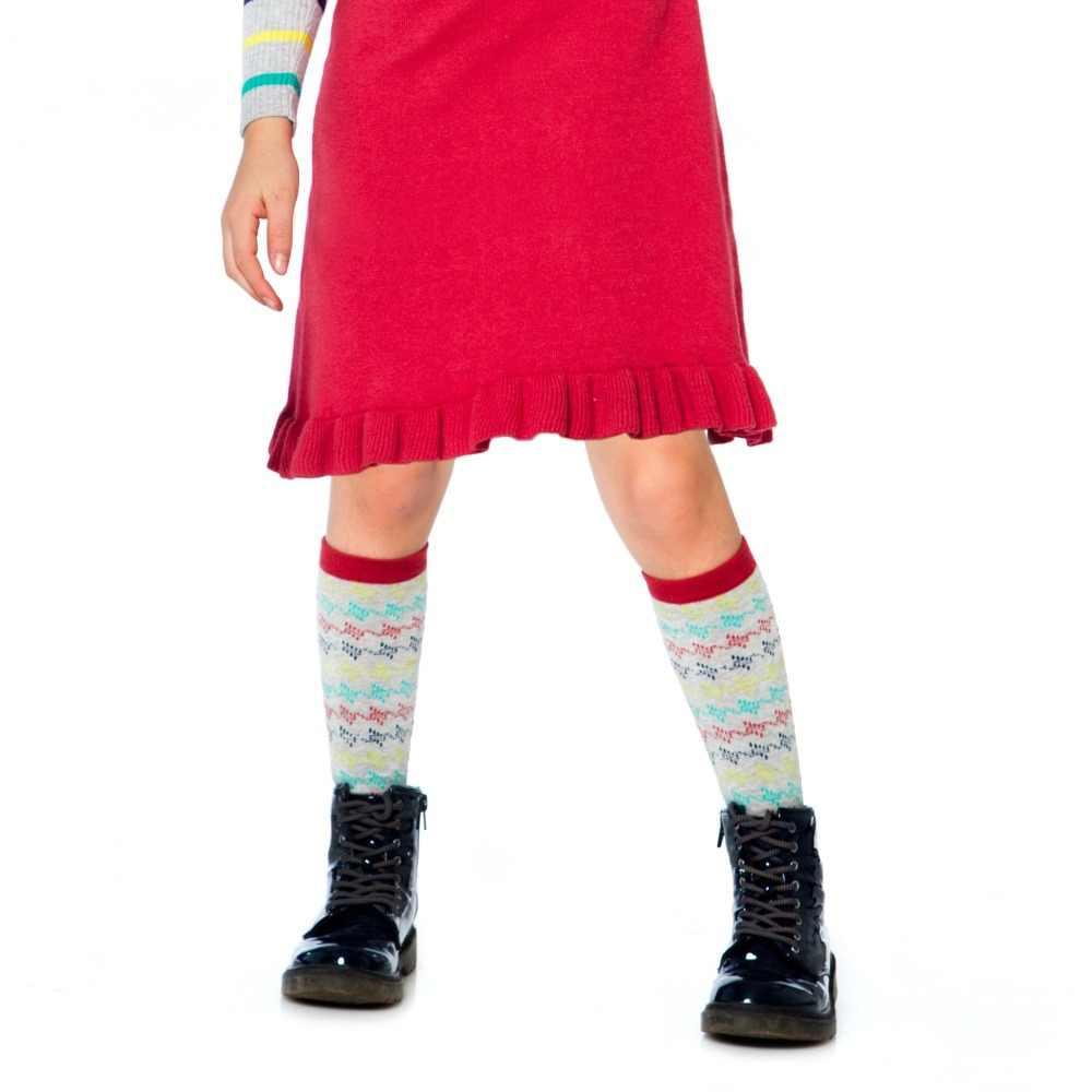 소녀 스타킹 가을 아기 소녀 팬티 스타킹 코튼 스트라이프 유아 스타킹 소녀 무릎 양말 겨울 키즈 스타킹 어린이 2-12y