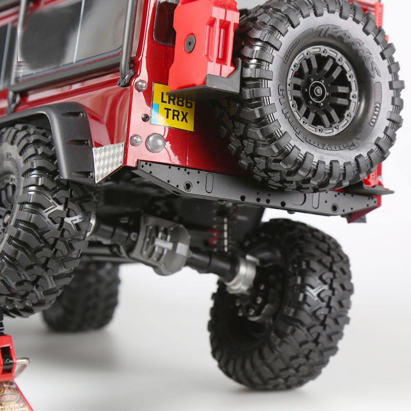 1PC TRX4 Chassis Shockproof Rear Bumper Aluminum Anti-collision Bar for Traxxas T4 Rock Crawler RC Cars Upgrade Accessories 1pair traxxas udr aluminum rear shock absorber 139r spring shockproof absorbing for rc cars upgrade accessories
