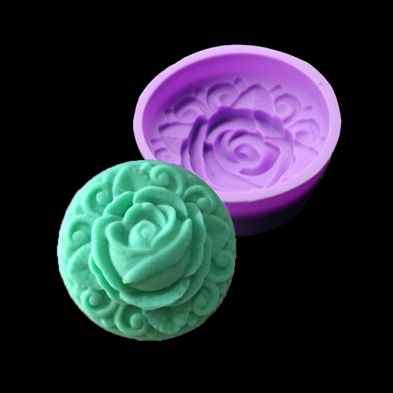 Rose silicone mold cake decorating tools Handmade kitchen accessories make ice cream cak ...