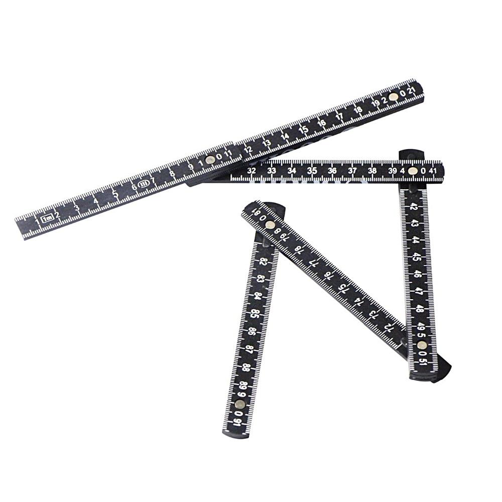1 м слайдер десять частей складная линейка складные линейки Универсальный внутренний Измеритель для чтения плотник измерительный инструмент Альтернативная рулетка