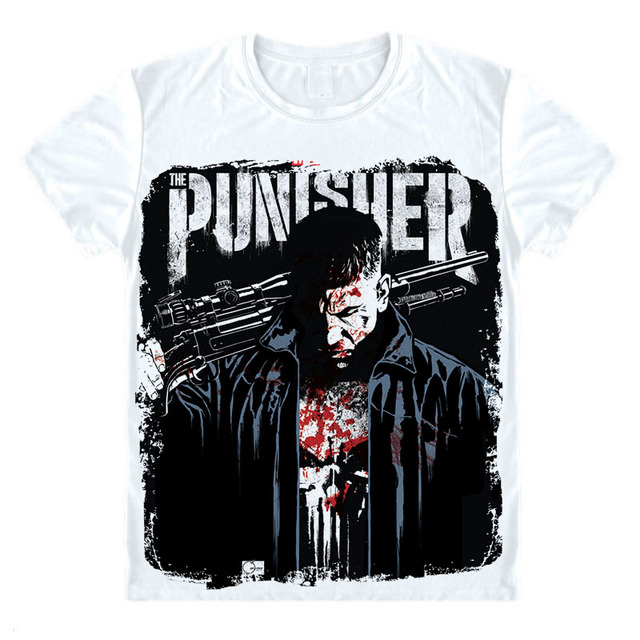 0bbc5b88655f0 Netflix Marvel The Punisher skull t shirt Revenge hero Jon Bernthal T-shirt  Marvel Comic Superhero Men Tee Shirt Hot Cool Homme