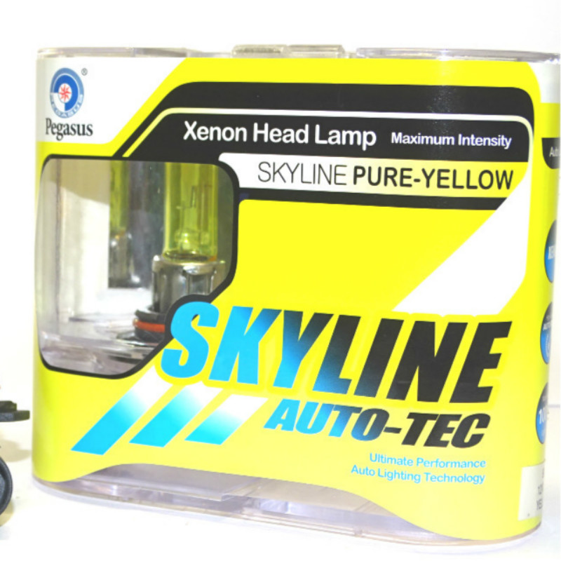 2Pcs 9006 HB4 12V 55W 3000K Super Bright Yellow Car Headlight Bulb Fog Lamp Bulb Auto Head Light Bulbs Automobiles Light Source