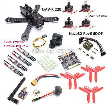 QAV-R 220 220mm drone iskeleti Naze32 Rev6 denetleyici RS2205 2300kv motor 12A simonk/BLHeli Littlebee 20A pro TS5828