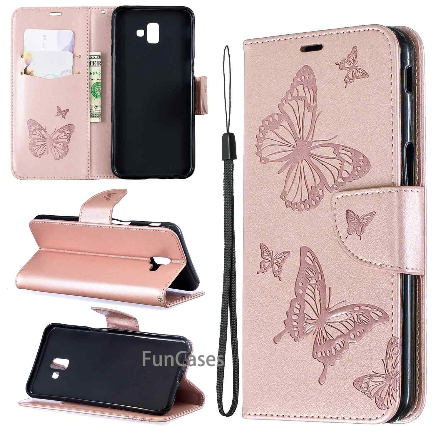 Phone Case For Fundas Samsung J6 Plus case Leather Wallet For Coque Samsung Galaxy J6 Plus J610 J610F SM-J610F Wallet Flip Cover