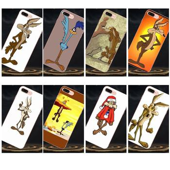 For Apple iPhone X XS Max XR 4 4S 5 5C 5S SE 6 6S 7 8 Plus Soft TPU Cell Bags Wile E Coyote image