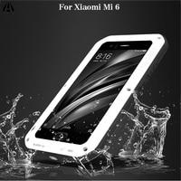 Love Mei For Xiaomi Mi 6 Case Luxury 3D Brand Metal Aluminum+Soft Silicone Armor 360 Full Protective Back Phone Case Cover Funda