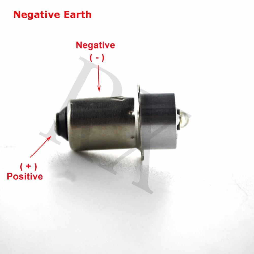 2 pcs / lot 3000 k 6000 k P13.5s 5 W Maglite LED Bulb Upgrade - Lampu mobil - Foto 2