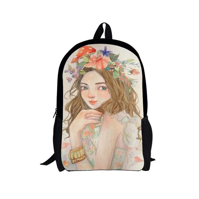 Campus Girls Bolsas Escuela Mochilas para Adolescentes Niñas mochilas Bolsa de Dibujos Animados Lindo Niños Ortopédicos Princesa Estudiantes Mochilas Mochila