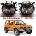 Para SUZUKI JIMNY FJ Fechado Off-Road Vehicle 1998-2014 faróis de neblina LED estilo Do Carro luz de nevoeiro 1 CONJUNTO