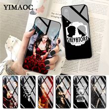 YIMAOC e The Vampire Diaries Colorful Cute Glass Case for Xiaomi Redmi 4X 6A note 5 6 7 Pro Mi 8 9 Lite A1 A2 F1