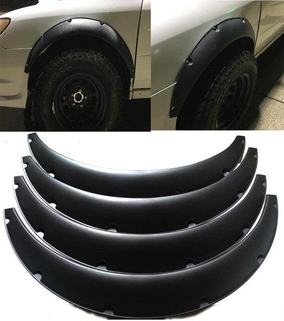 """4 adet 3.5 """"/90mm Evrensel Esnek Araba çamurluk genişletici Ekstra Geniş Vücut Tekerlek Kemerleri"""