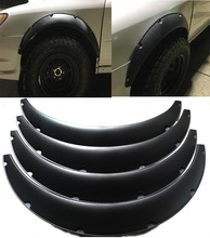 """4Pcs 3.5""""/90mm Universal Flexible Car Fender Flares Extra Wide Body Wheel Arches"""