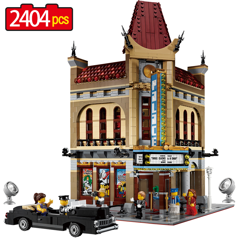 2404pcs Large building blocks sets Factory Compatible legoINGLY City Street Palace Cinema Blocks city house blocks toys for kid crystal palace stoke city