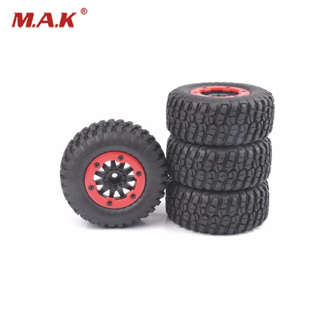 4 PCS/Set Short Course Truck Tires&BeadLock Wheel Rim For 1:10 TRAXXAS Slash RC Car 02 2pcs traxxas original 1 5 x maxx tires wheels tire tyre for 1 5 traxxas x maxx rc monster truck model 7772