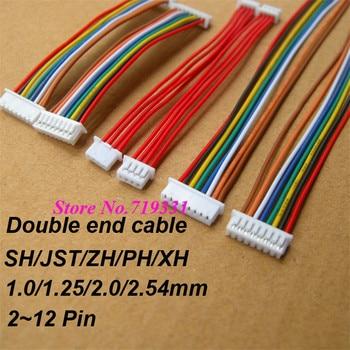 10 шт. JST SH ZH XH PH 1,0 мм 1,25 мм 1,5 мм 2,0 мм 2,54 мм 2,0 2/3/4/5/6/7/8/9/10/11/12-контактный разъем и гнездовой разъем с кабелем