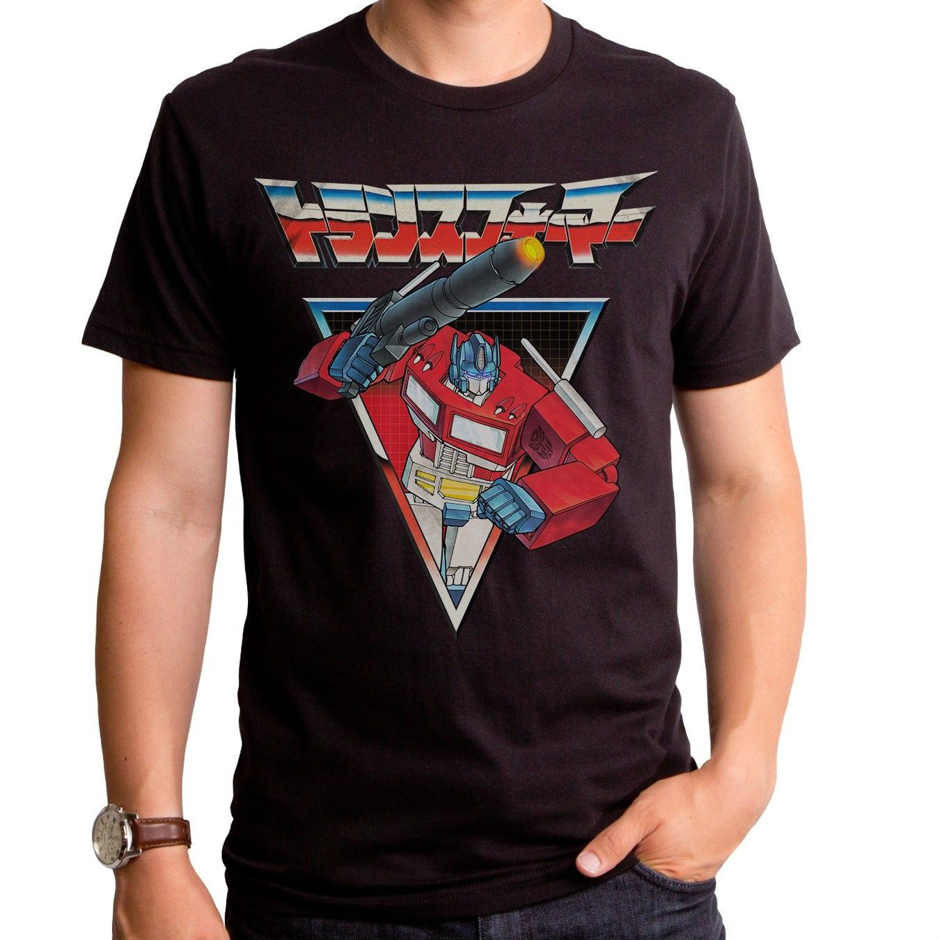 Authentic The Optimus Prime Nippon in Japanese adult T-shirt top Funny Tees Men Short
